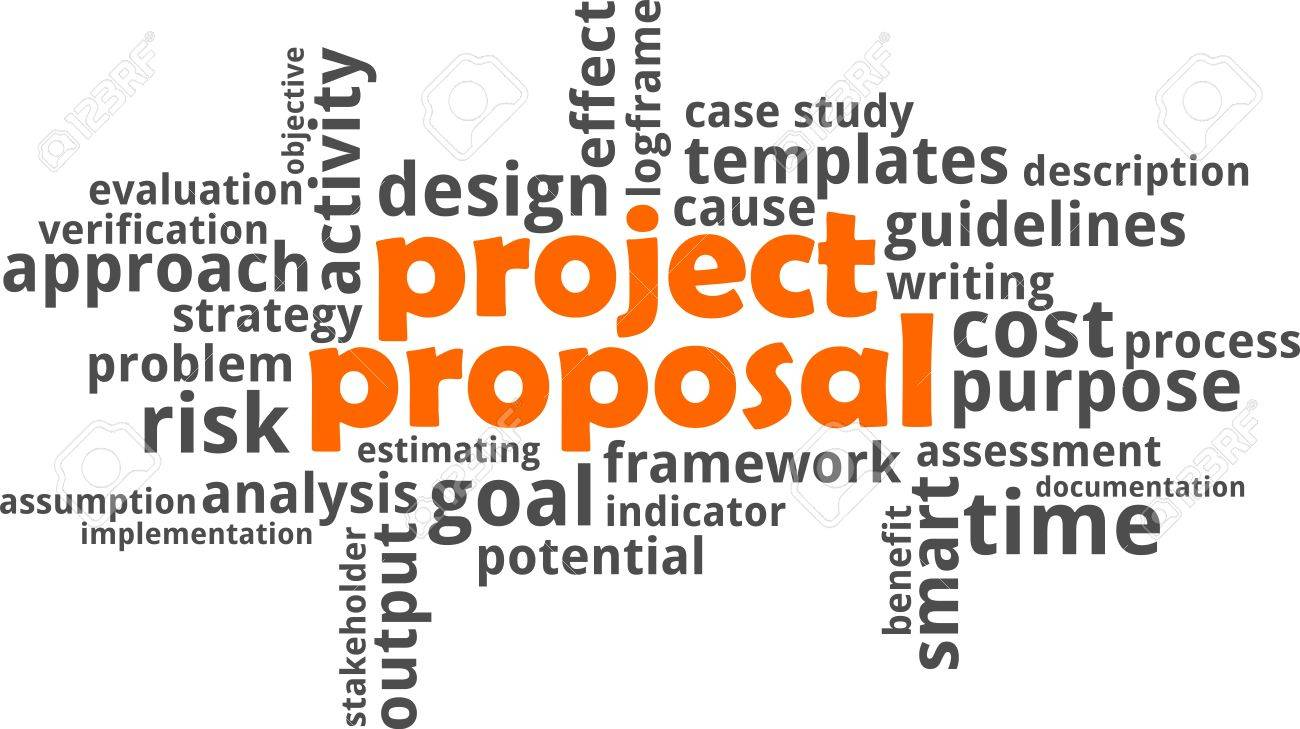 a word cloud of project proposal related items stock vector 63808801 - Project Proposal