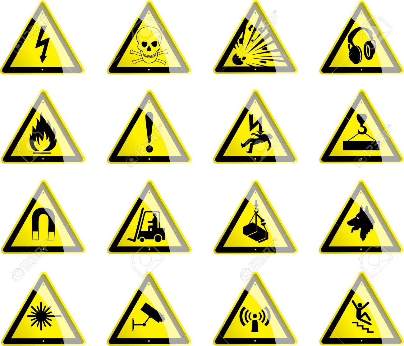 Triangular hazard symbols royalty free cliparts vectors and triangular hazard symbols stock vector 48795596 biocorpaavc Gallery