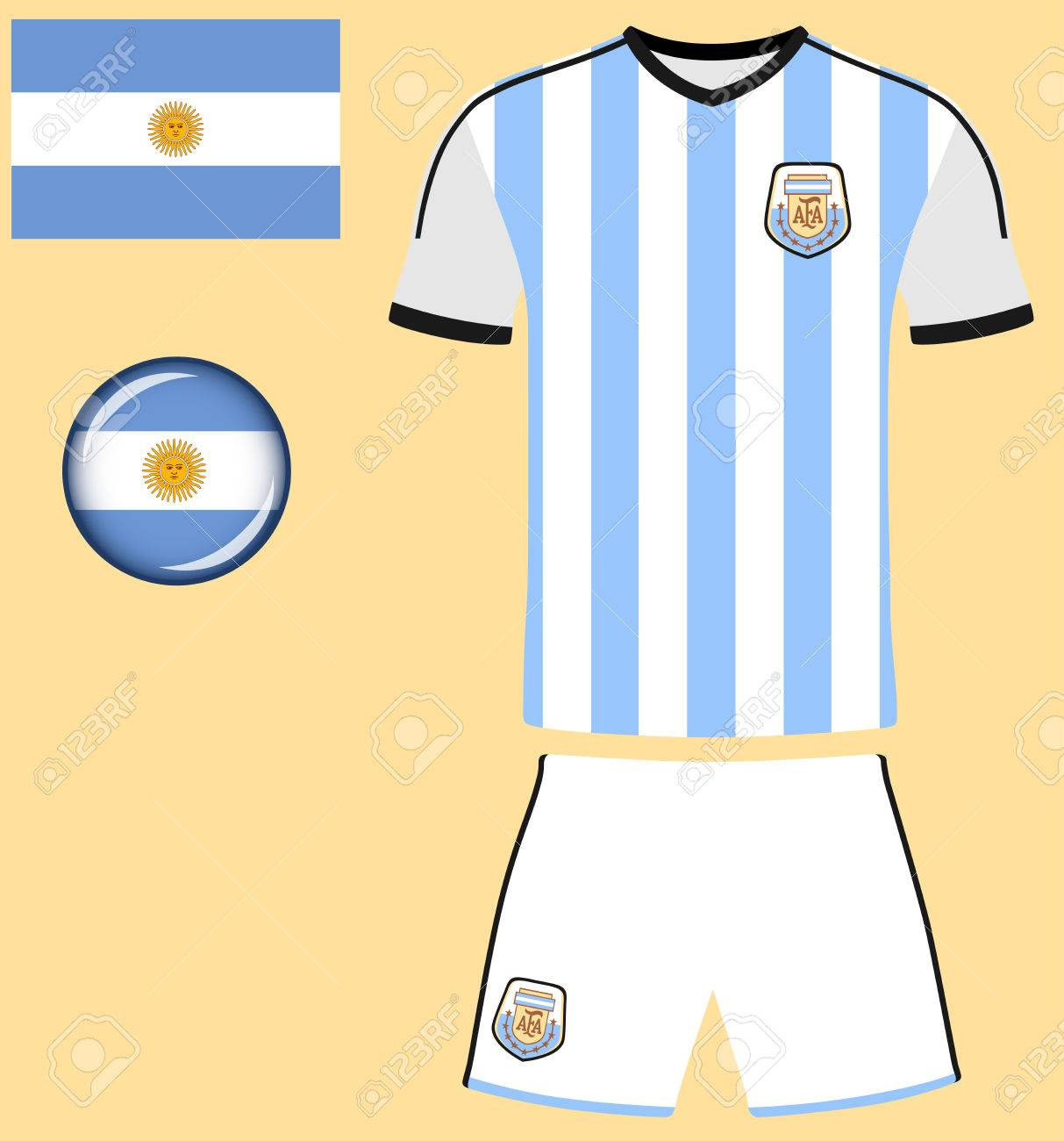 argentine jersey football vector graphique image repr sentant le rh fr 123rf com