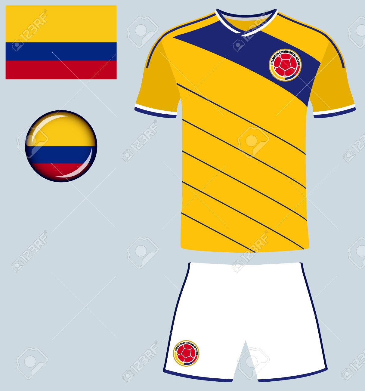 4e58c1c1a13 Colombia Football Jersey. Vector graphic illustration representing the national  football jersey of Colombia. Stock