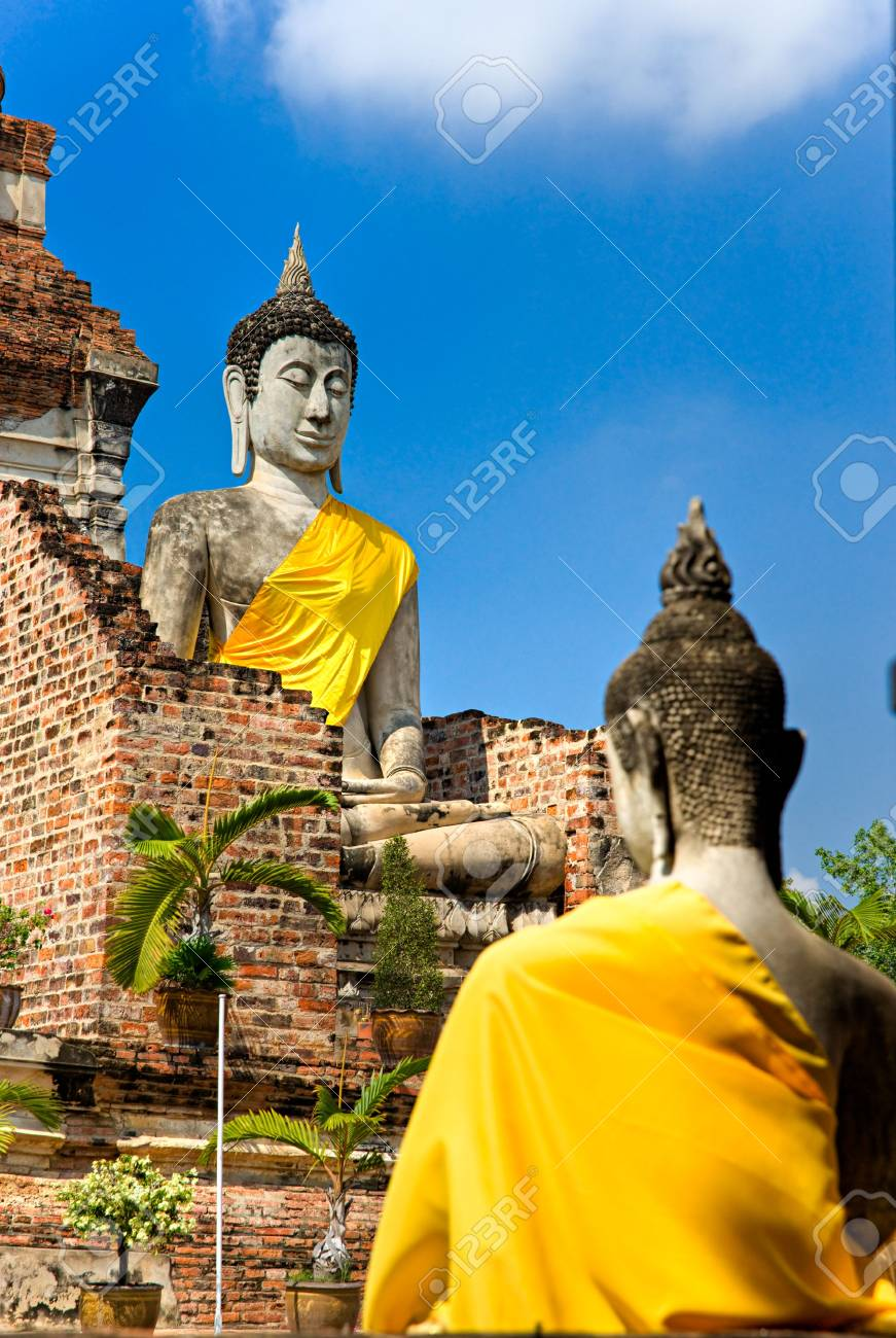 Ruined Old Temple of Ayutthaya, Thailand, Stock Photo - 6154820