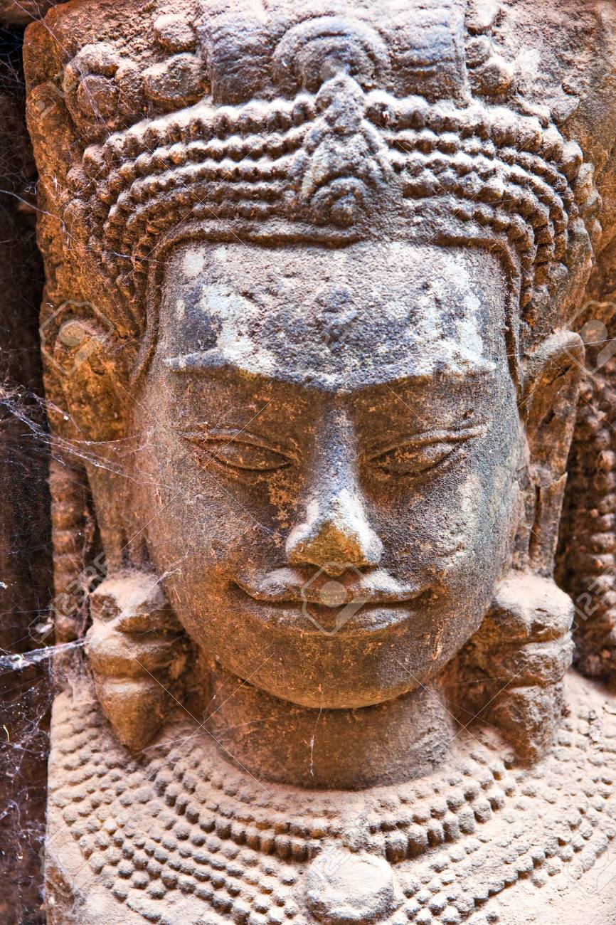 Bayon Tower,  Angkor Thom, Siem Reap, Cambodia Stock Photo - 17325552