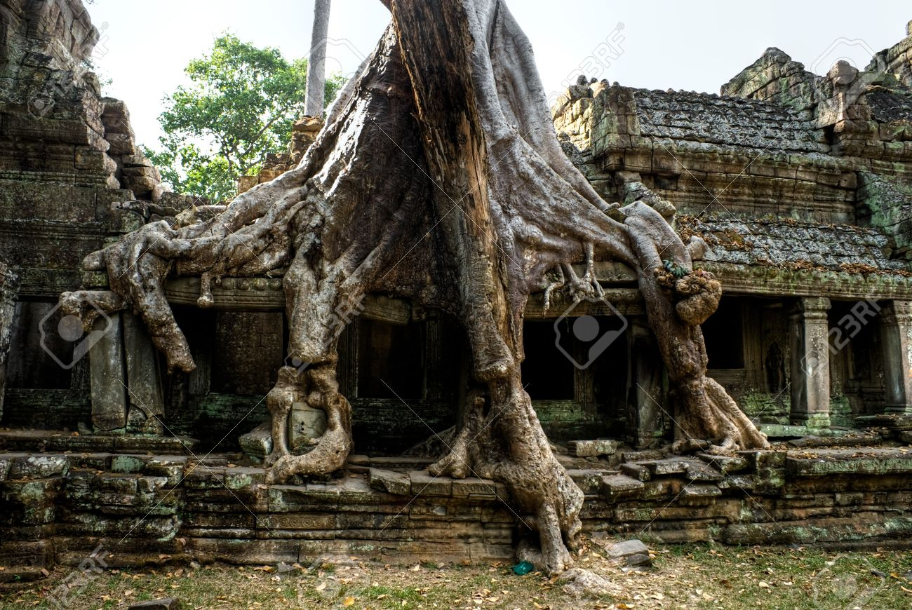 プリヤ ・ カーン寺院、アンコー...
