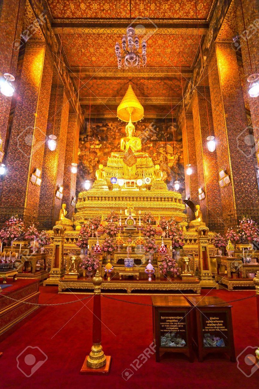 Wat Po The Temple of reclining buddha Bangkok Thailandia. Stock Photo - & Wat Po The Temple Of Reclining Buddha Bangkok Thailandia. Stock ... islam-shia.org