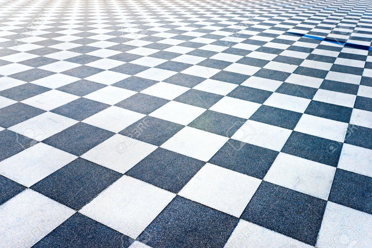Black And White Tiled Floor Of The Terrazza Mascagni, Livorno ...