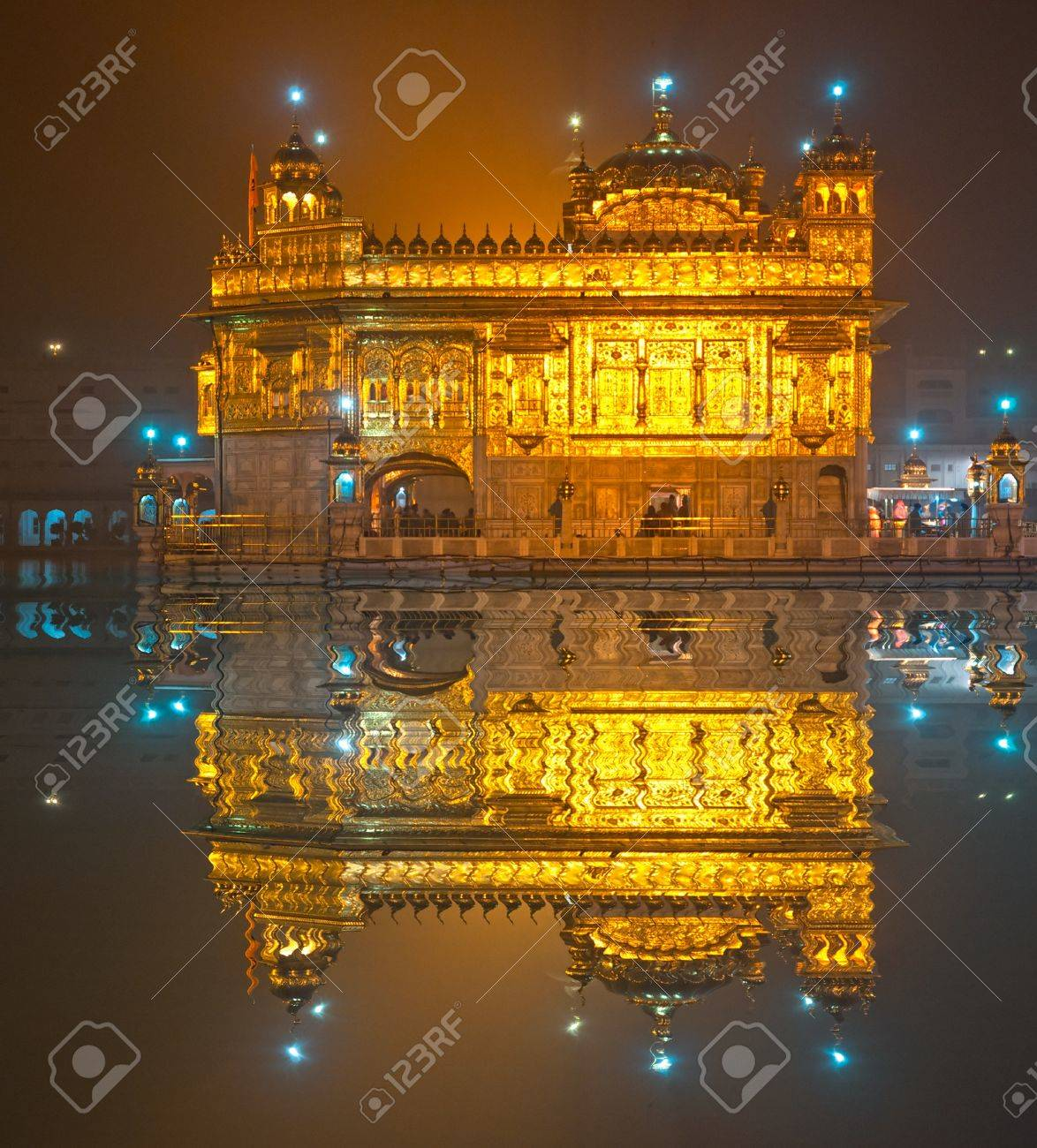 golden temple in amritsar, punjab, india. stock photo, picture and