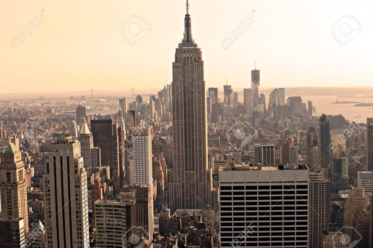 Aerial view of Manhattan, New York City. USA. Stock Photo - 13093494