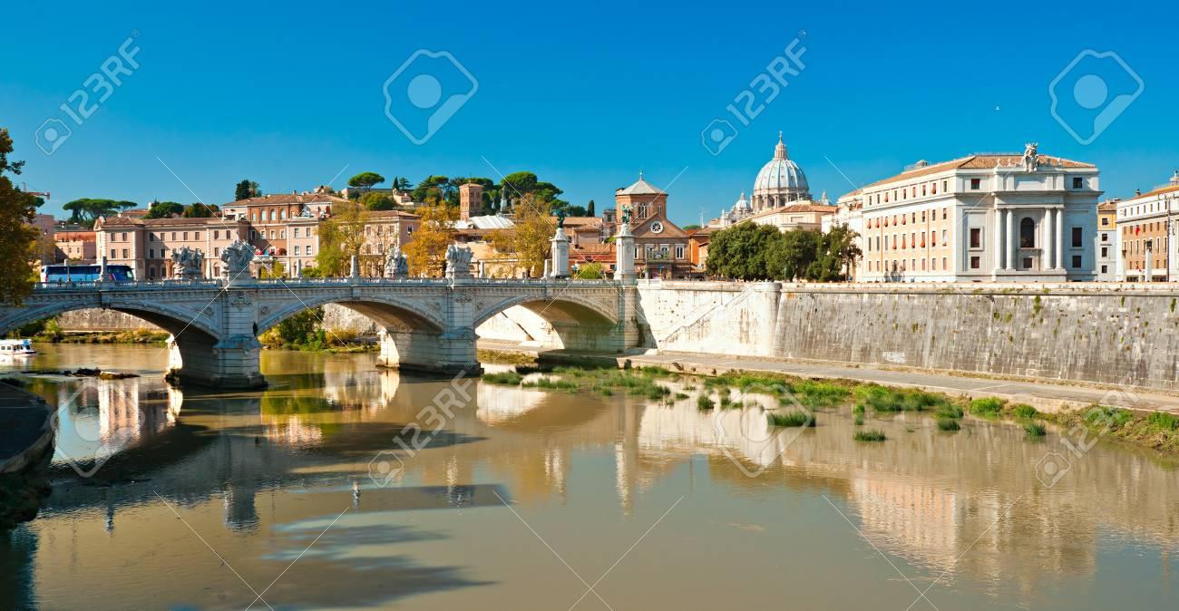 View of  San Peter basilica, Rome, Italy. Stock Photo - 16632197