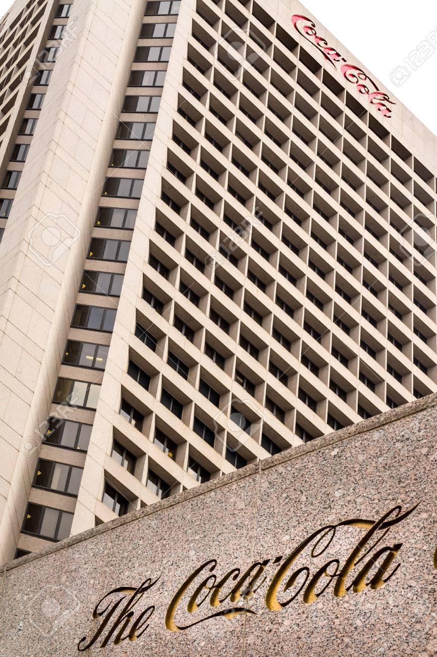 Atlanta Ga Dezember 04 Zentralgebäude Der Coca Cola Company Am 4