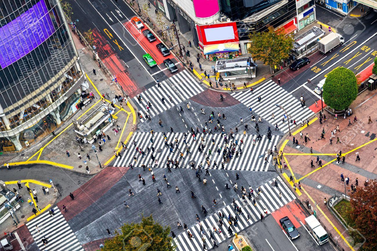 Hasil gambar untuk shibuya crossing street