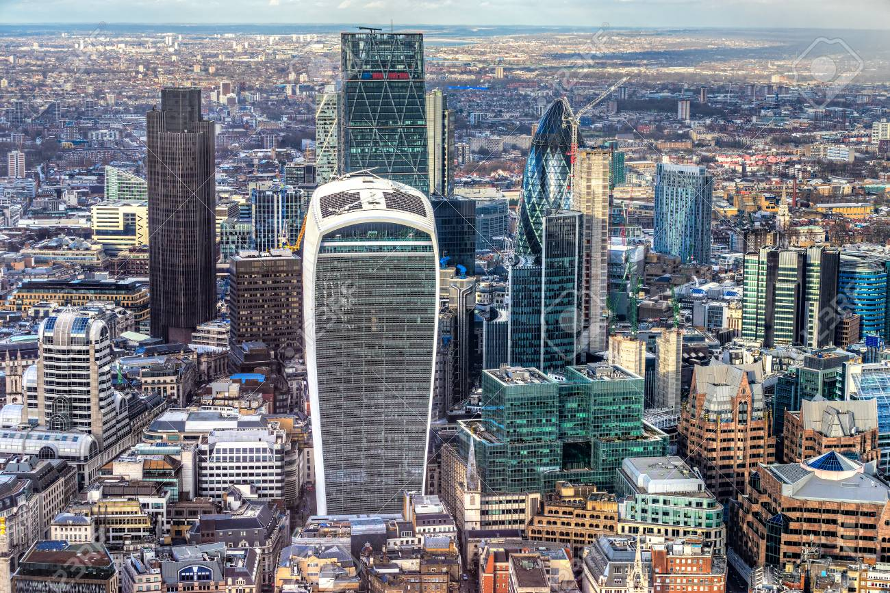 City Of London Financial District London Uk Stock Photo Picture And Royalty Free Image Image 93936263