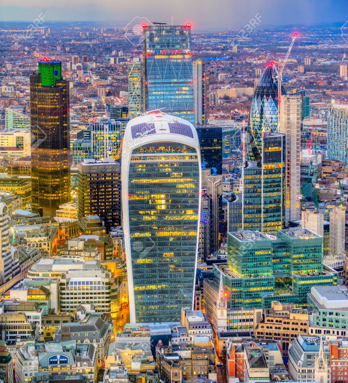 City Of London Financial District London Uk Stock Photo Picture And Royalty Free Image Image 93936264