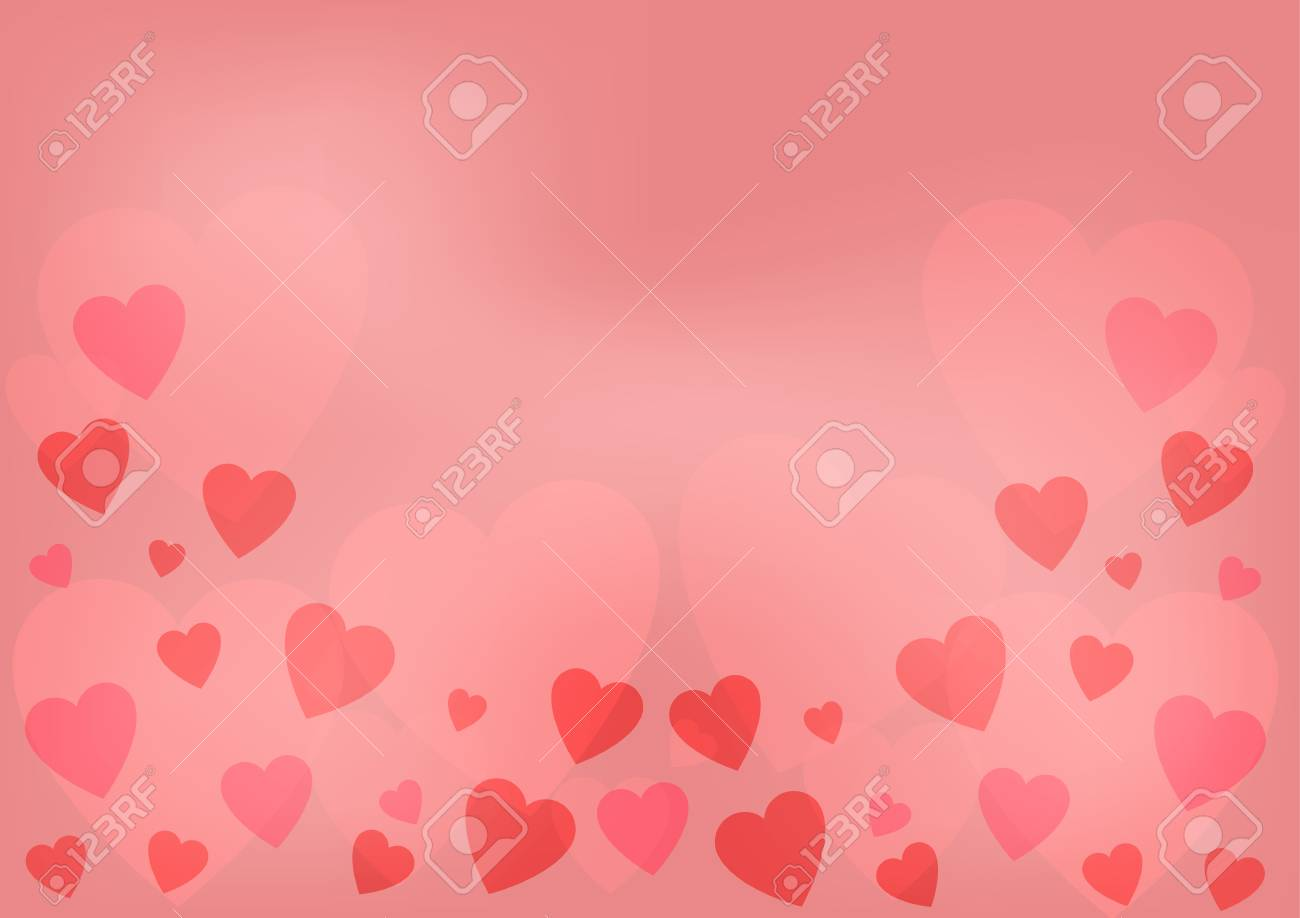Heart Bokeh Abstact Background Pink Meaningful Sweet Love Royalty