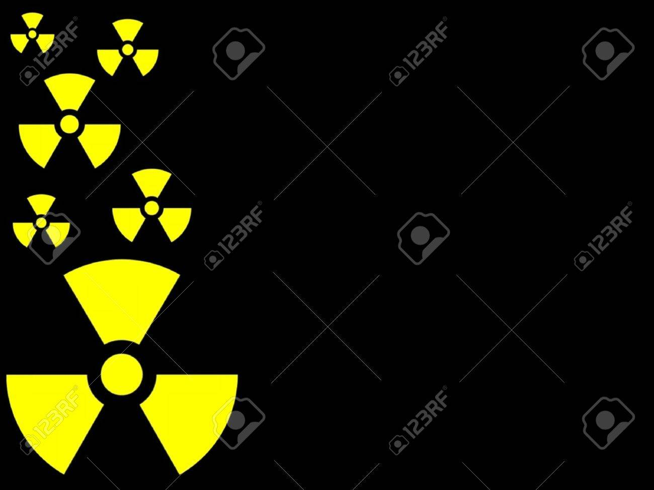 symbol radioactive background Stock Photo - 1696726