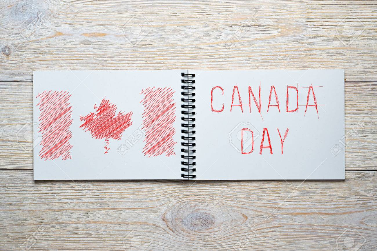 Canada independence day pencil sketch
