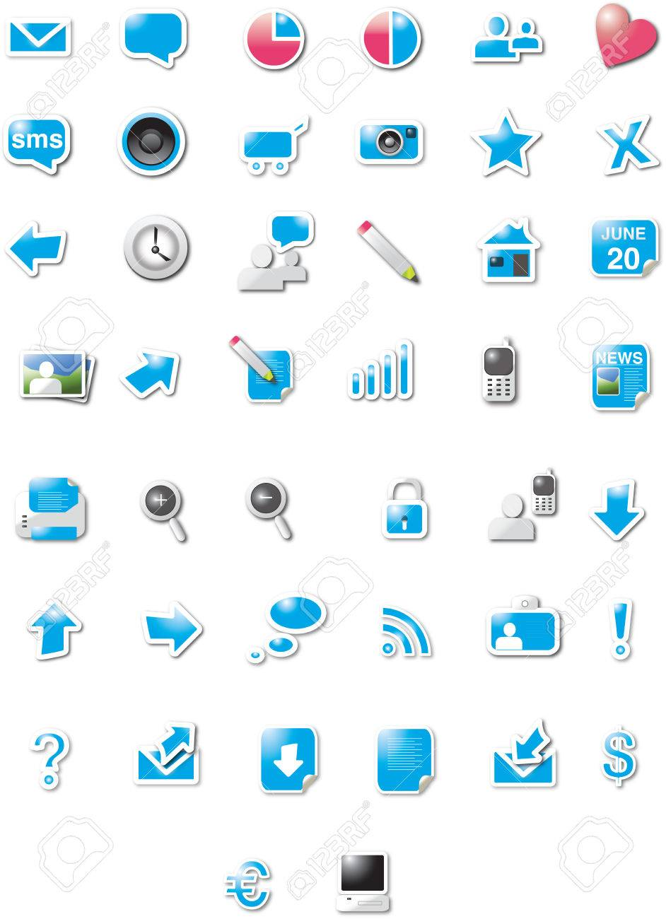 Web 20 icons royalty free cliparts vectors and stock web 20 icons stock vector 6527140 sciox Choice Image