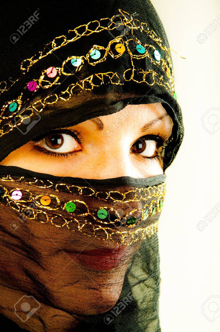 An image of muslim girl, studio shot Stock Photo - 16466965