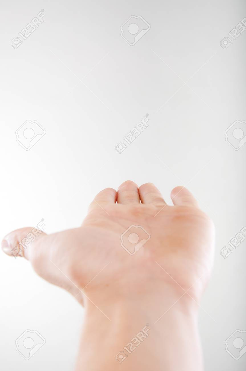 An image of open hand on white background Stock Photo - 16476804