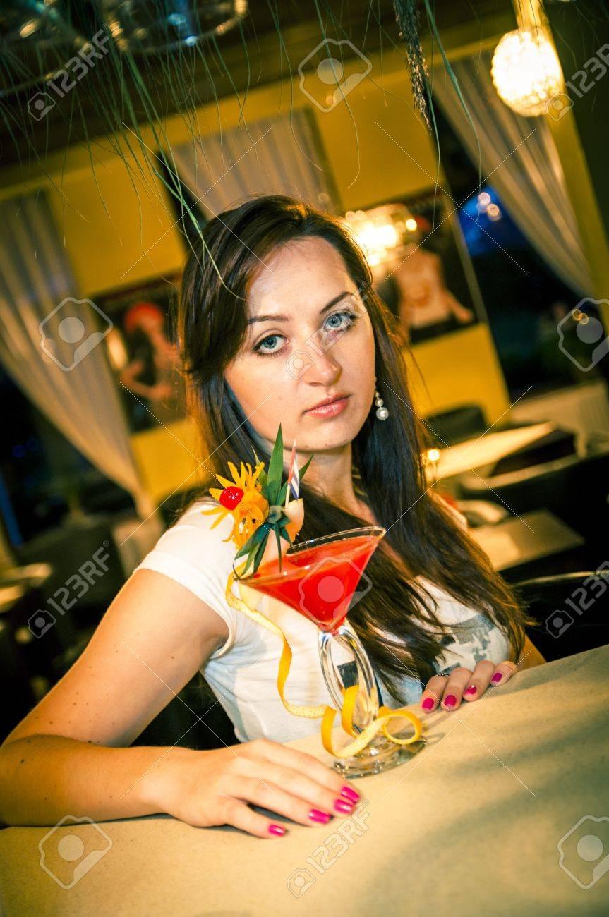 An iamge of girl in the bar Stock Photo - 16466996
