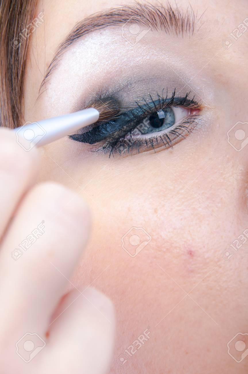 An image of girl making up Stock Photo - 16610486