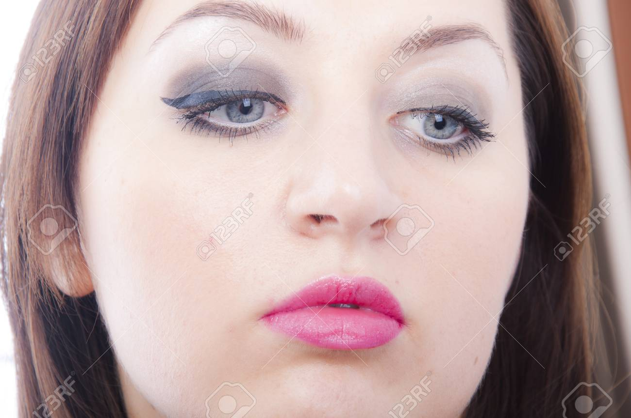 An image of girl making up Stock Photo - 16610403