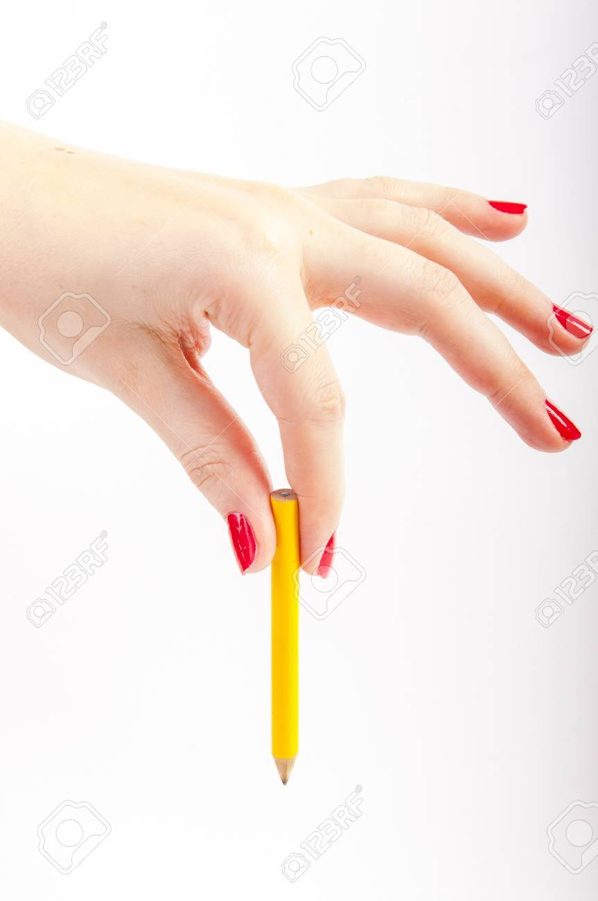 An image of female hand with red painted nails Stock Photo - 17293348