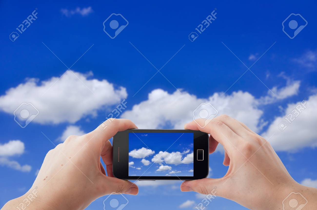 An image of shooting photographs with mobile phone Stock Photo - 17293685