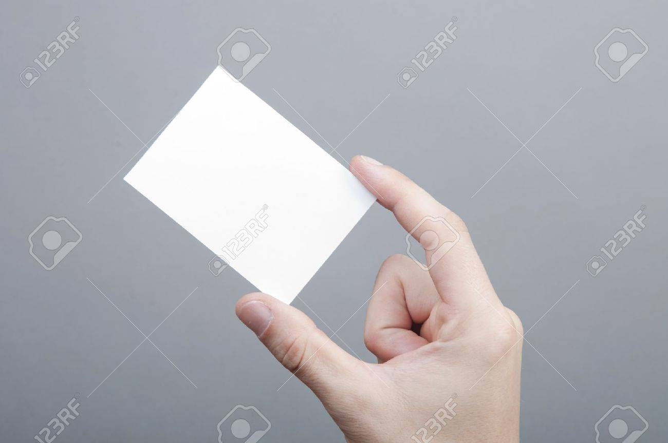 An image of businessmen holding blank card Stock Photo - 17272335