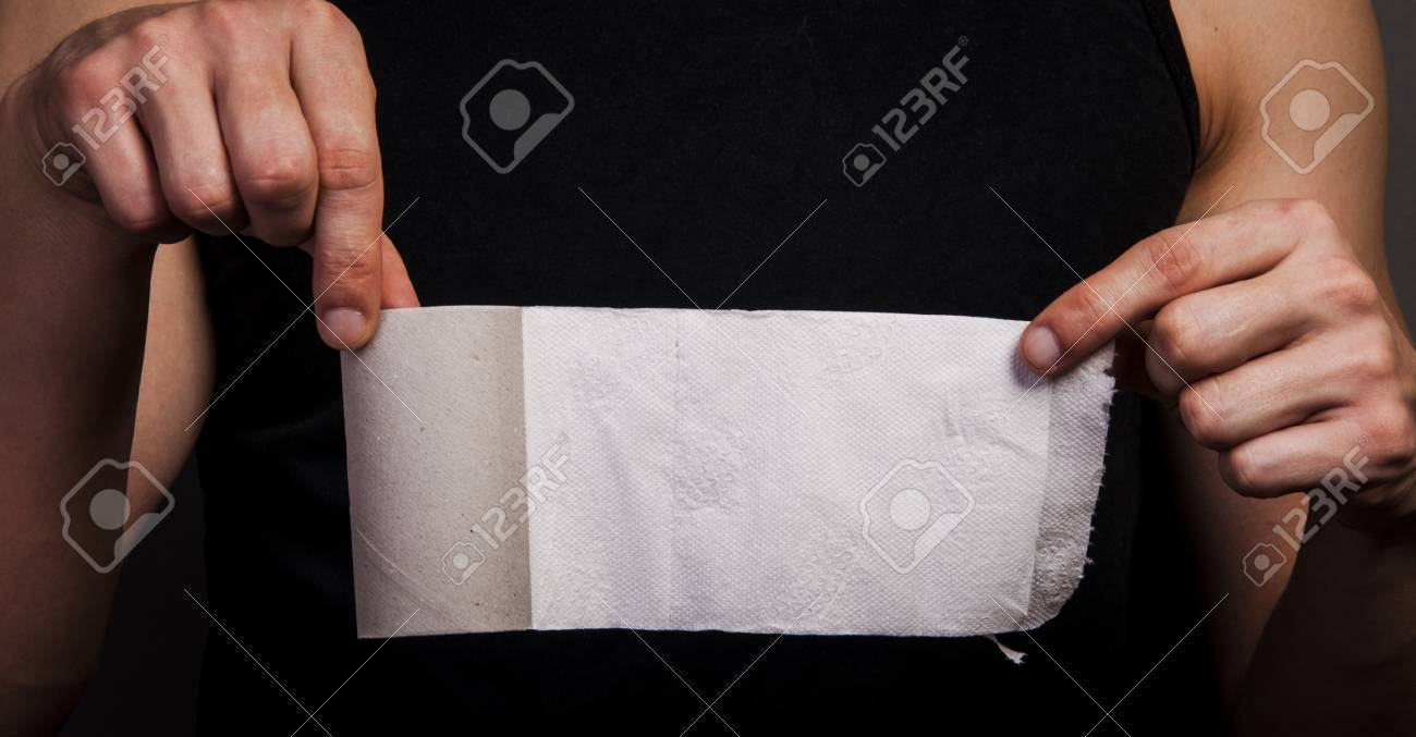 An image of empty toilet paper roll Stock Photo - 17294123