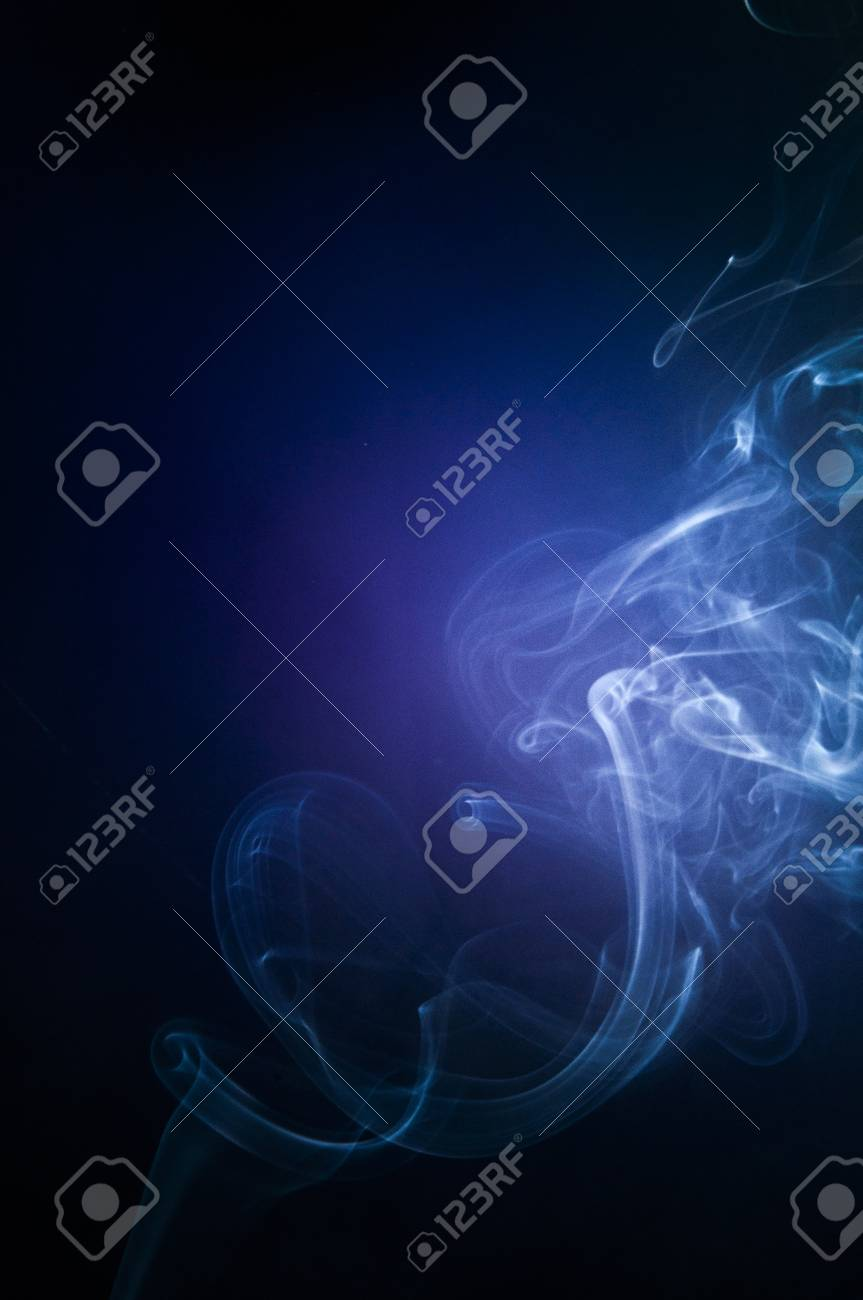 An image of smoke on black background Stock Photo - 18616087
