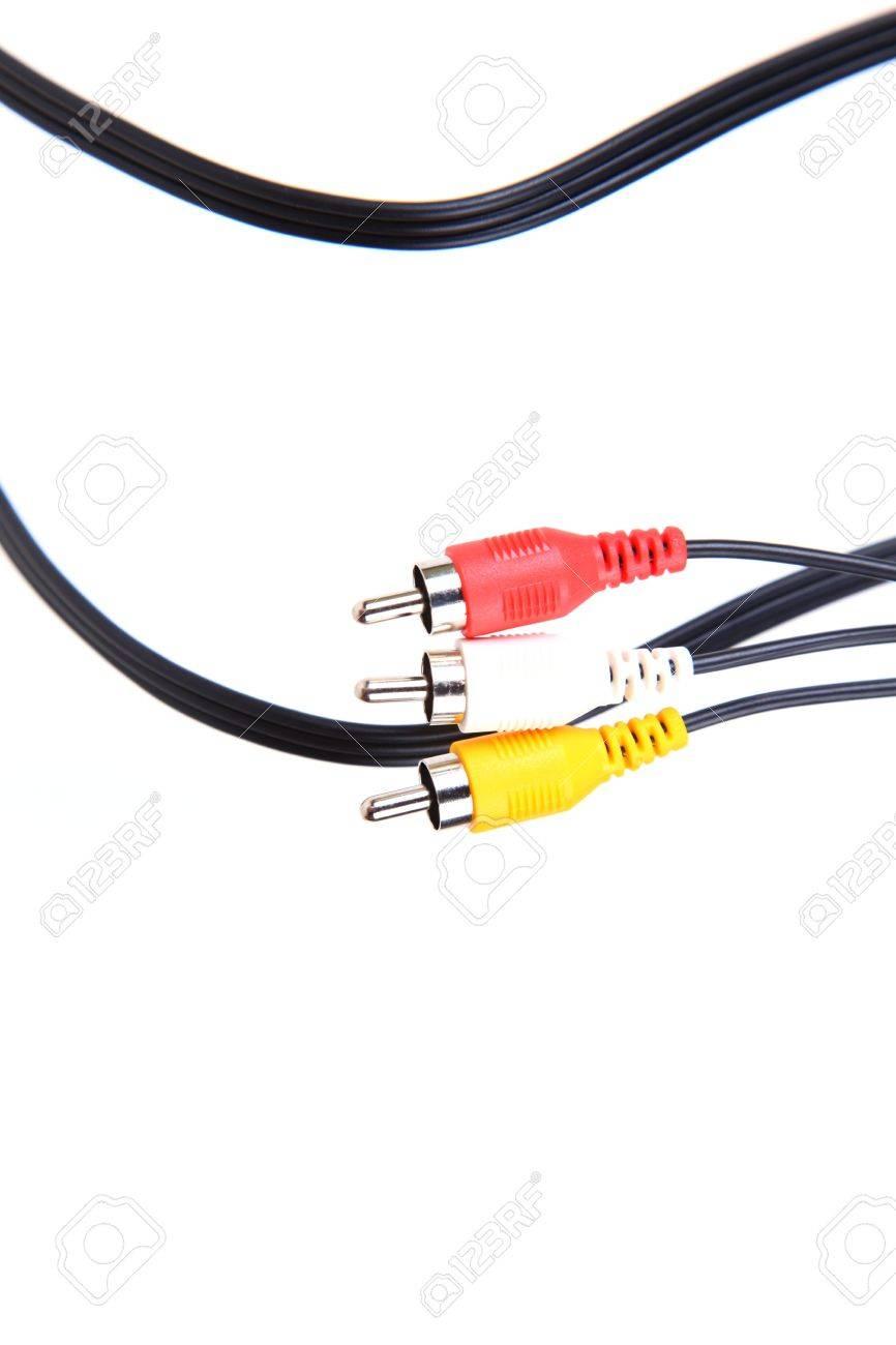 tv av plugs Stock Photo - 6481620