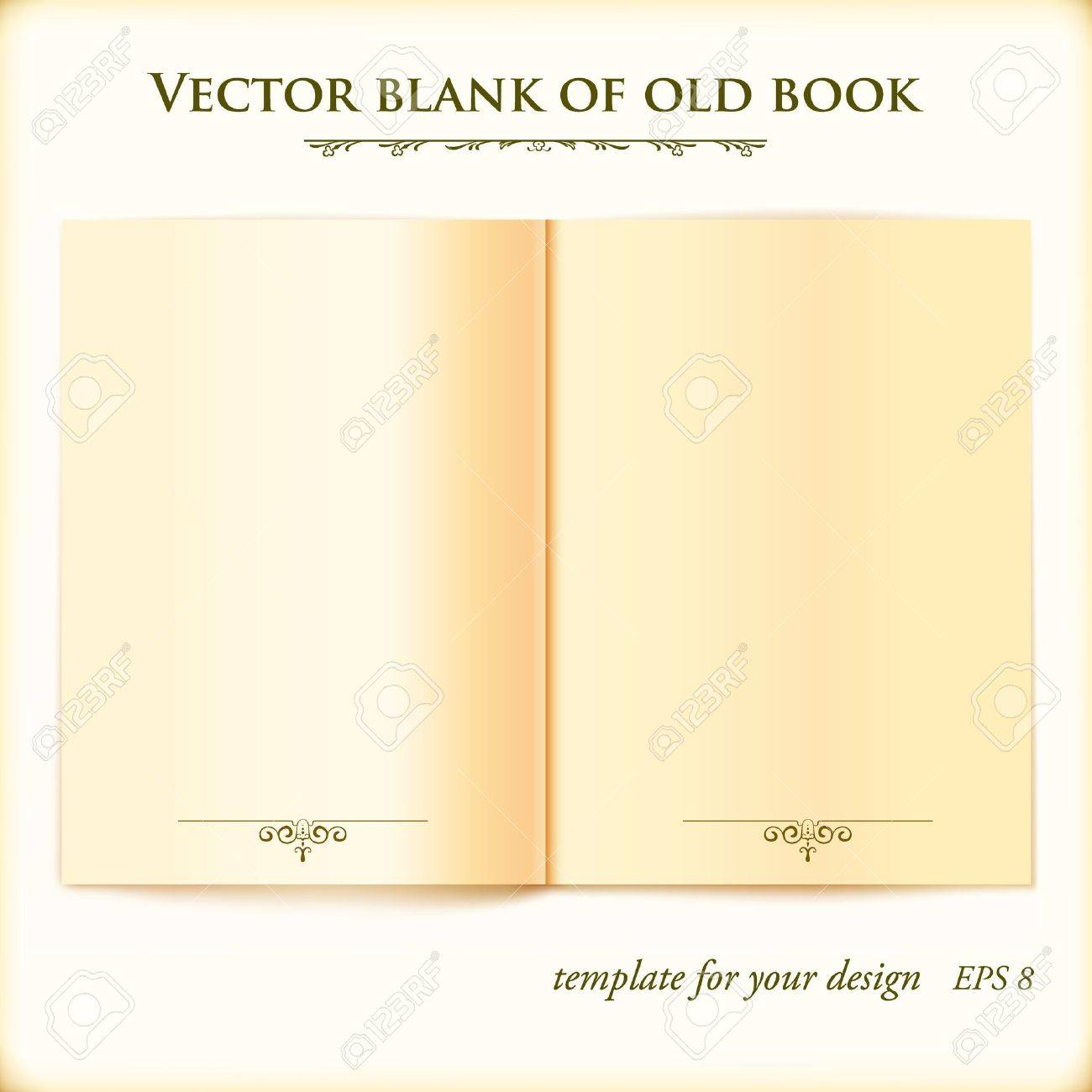 open old book illustration template for your design royalty free