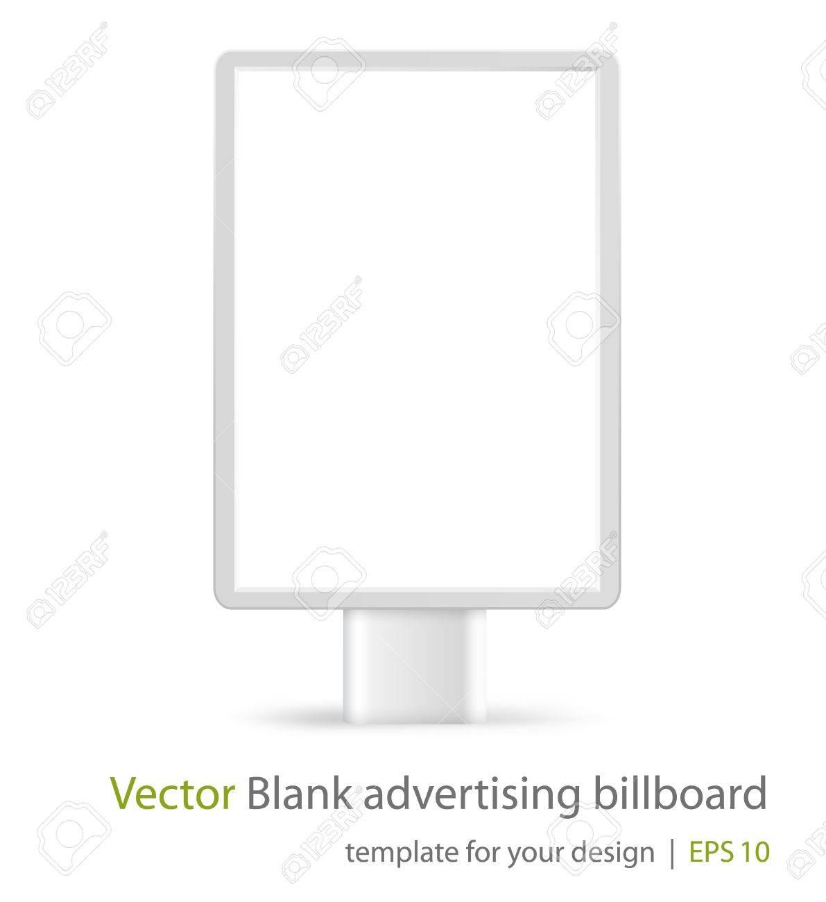 Vector blank advertising billboard on white background Eps10 - 12890393