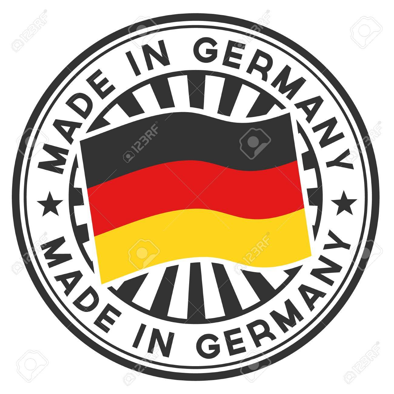 Stamp with flag of the Germany Made in Germany - 14562410