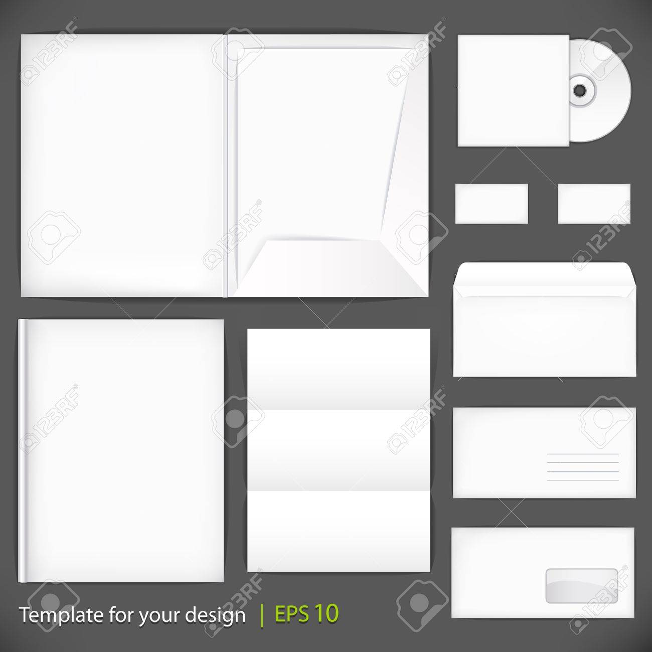 Set of templates corporate identity Stock Vector - 15208298
