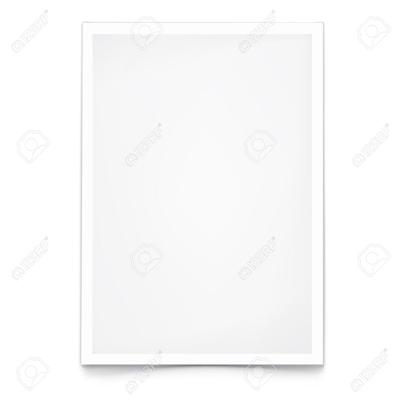 Blank Paper A4. On White With Shadow. Template For Your Design ...