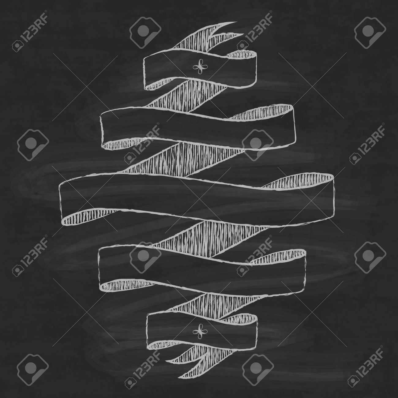 chalkboard design element ribbon template for lettering royalty