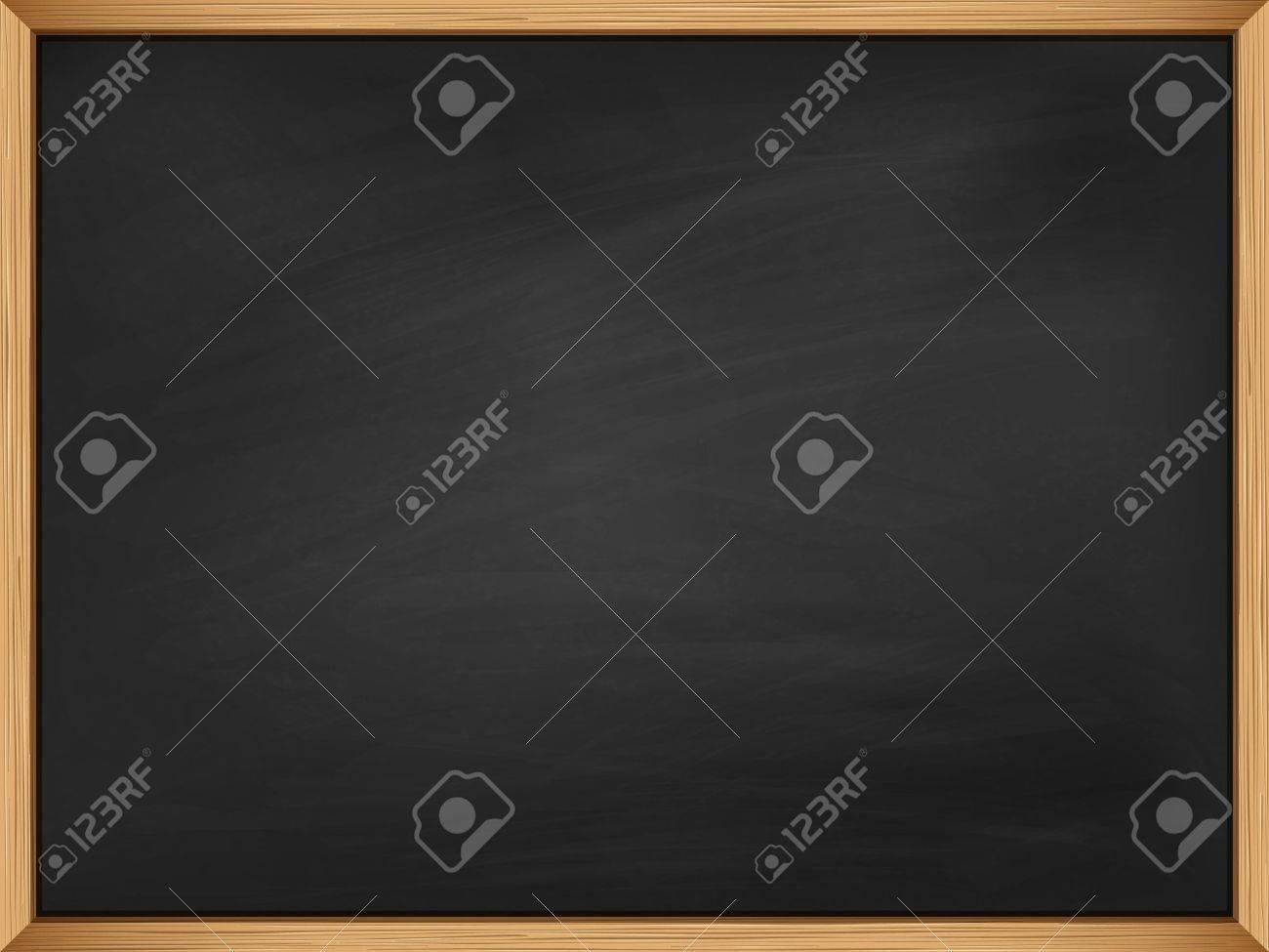 Empty blackboard with wooden frame. - 37248560