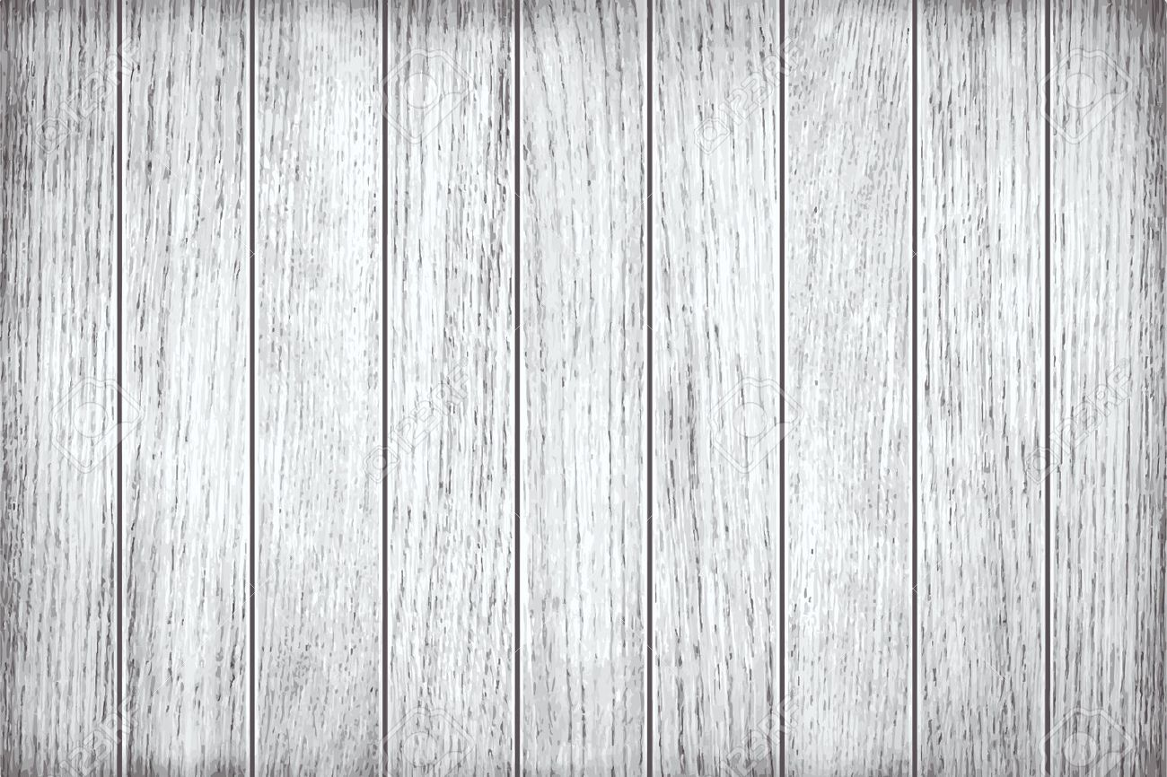 White, grey wooden texture, old painted planks - 41254550