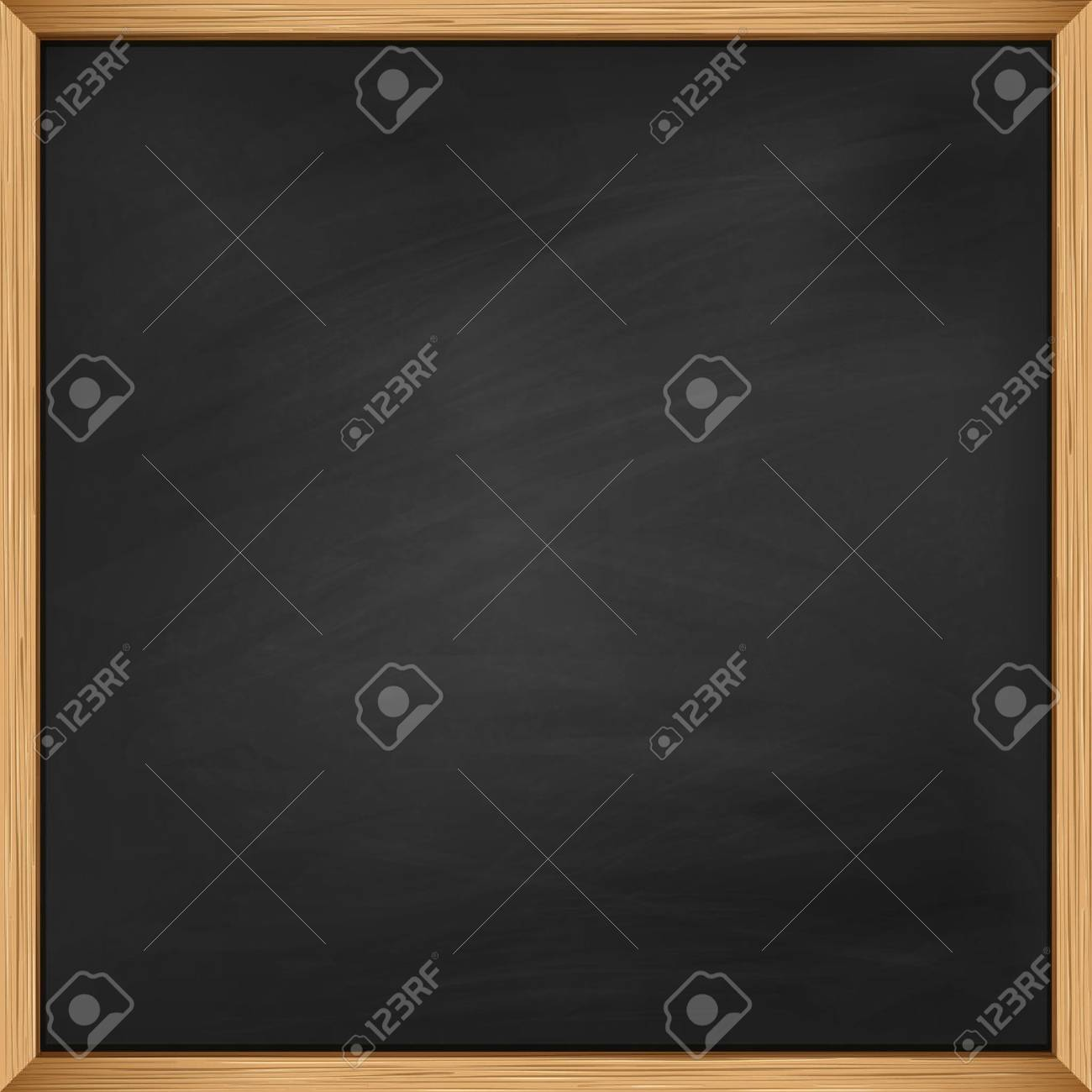 Empty Blackboard With Wooden Frame. Using Mash Royalty Free Cliparts ...
