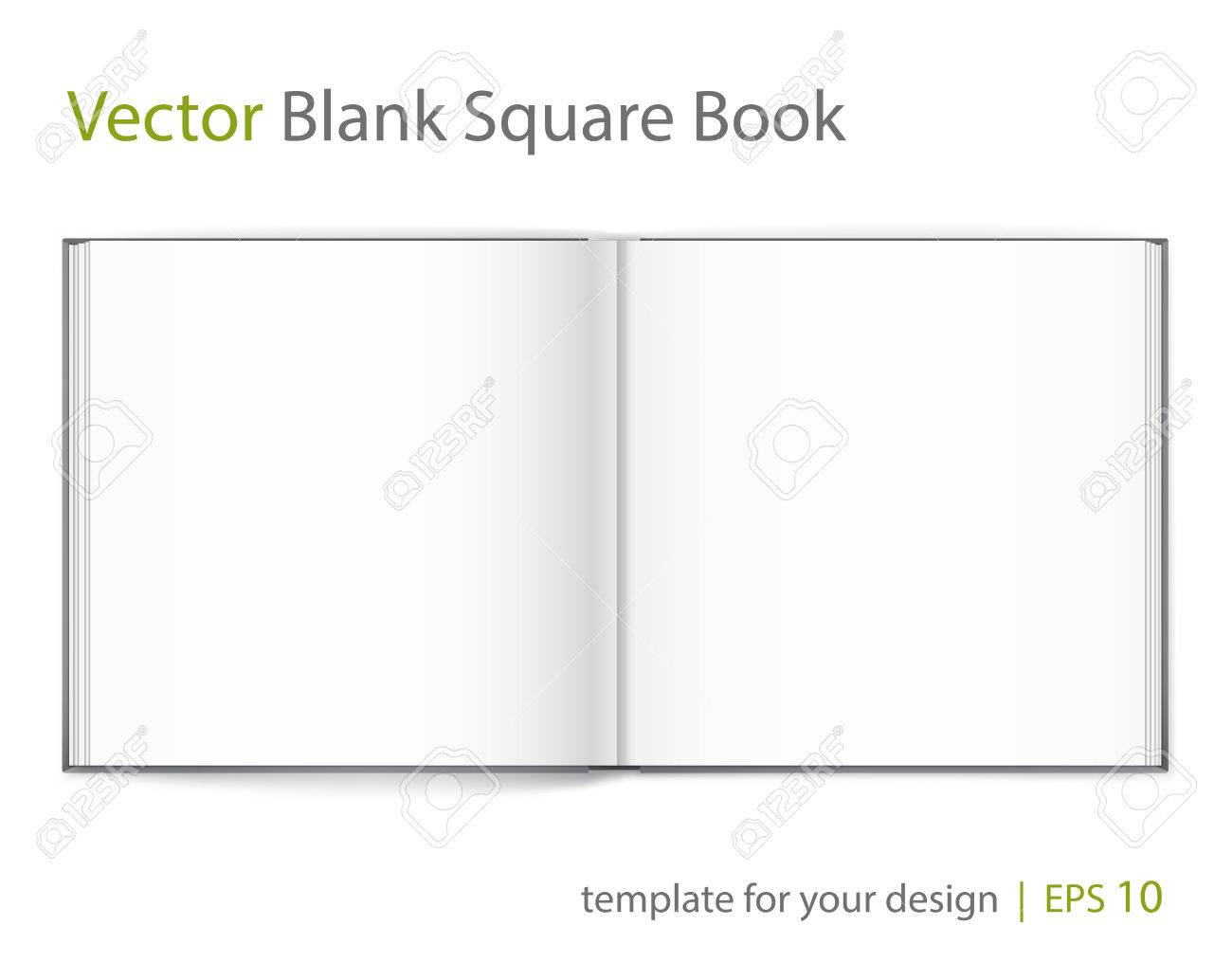 Vector blank of open magazine on white background. - 61723683