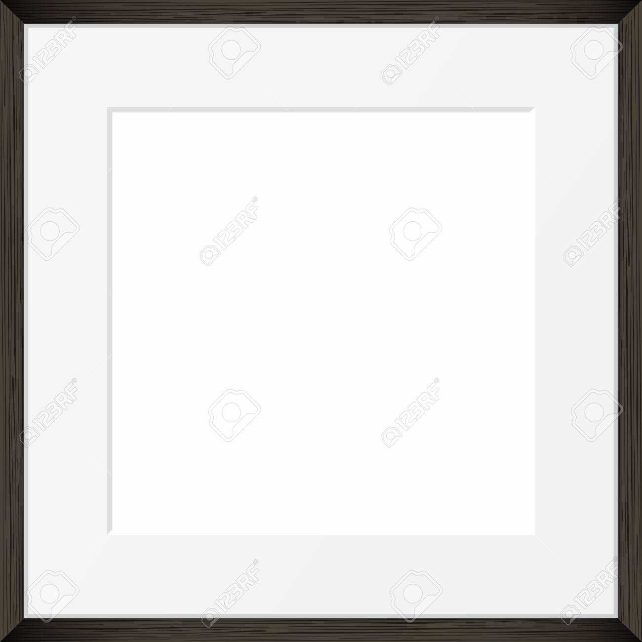 square blank picture frame template realistic black frame royalty