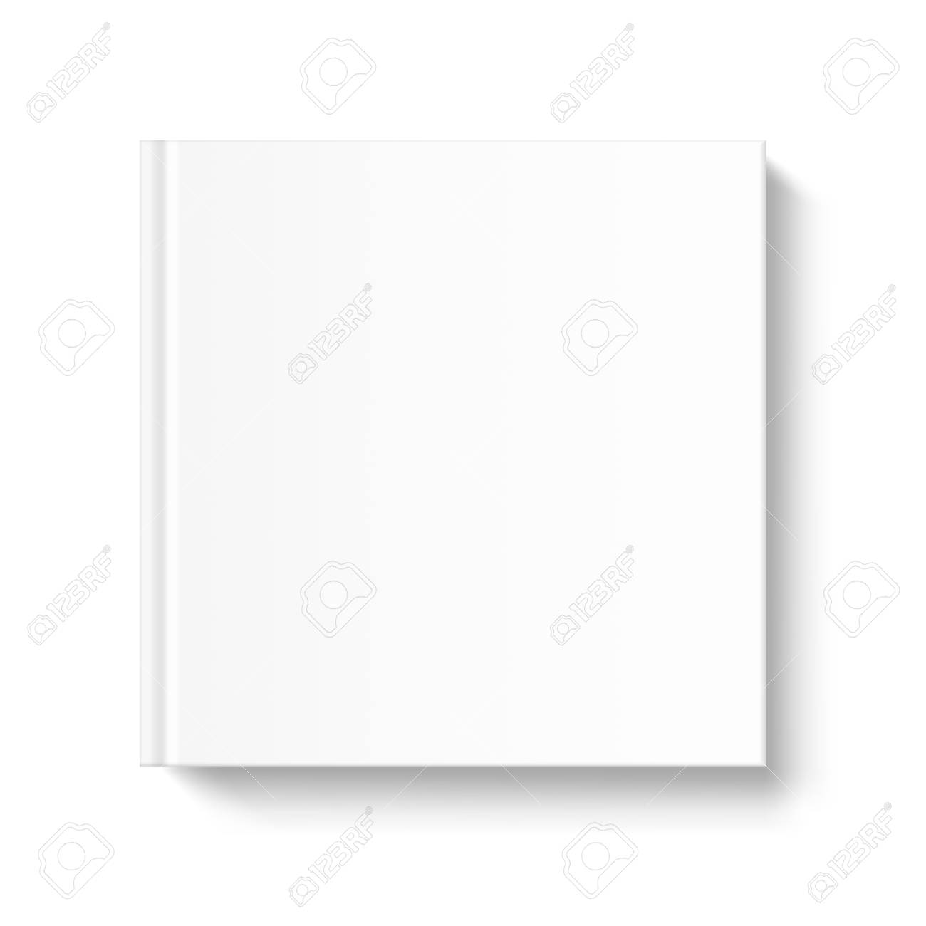 Mock up square book cover on white background. Vector template for your design. - 78460269