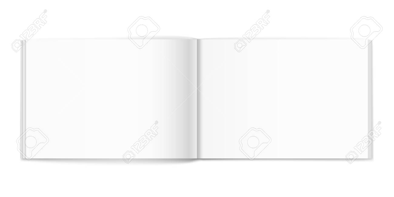 Vector blank of open album on neutral white background. Using mesh. Template - 78460271