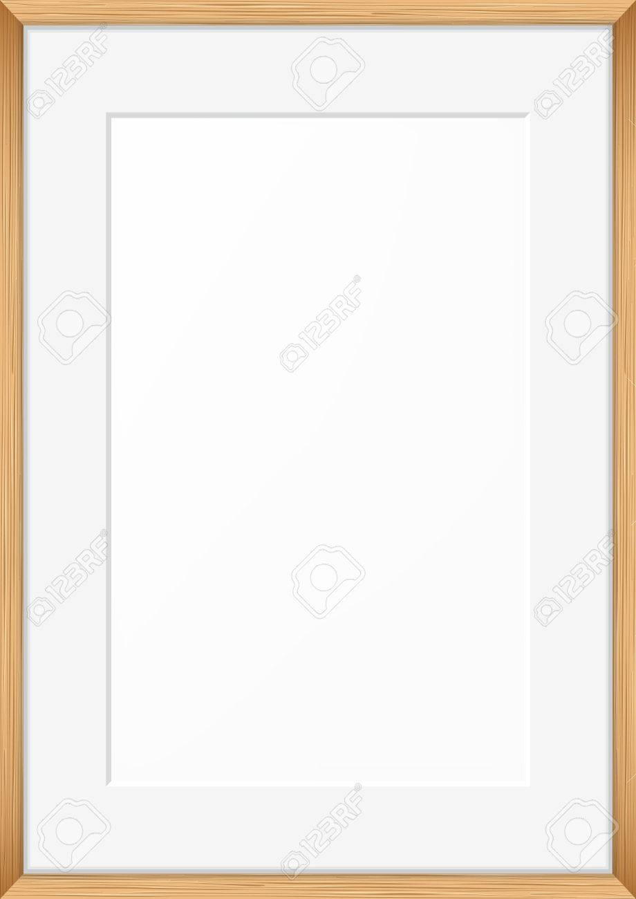 blank picture frame template realistic wooden frame royalty free
