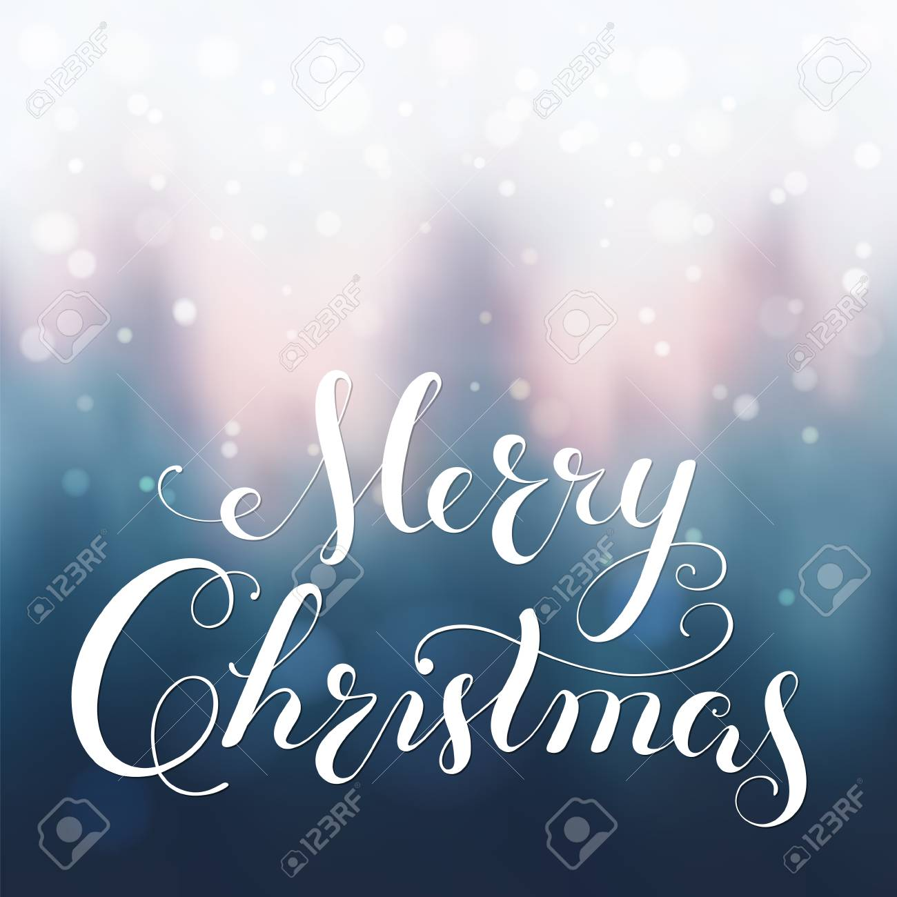 Merry Christmas calligraphy lettering. - 88965450
