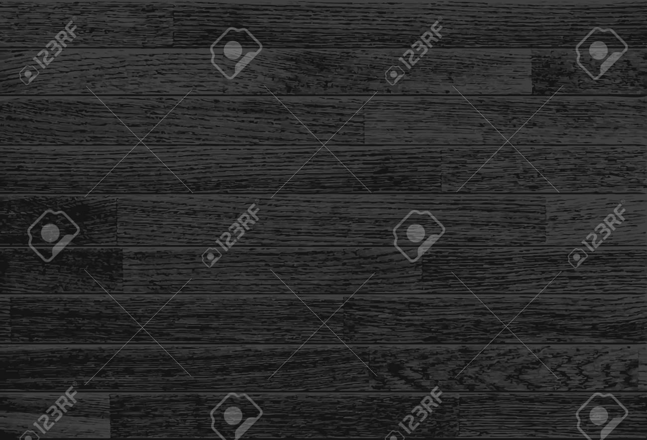 Black wooden background - 91695749
