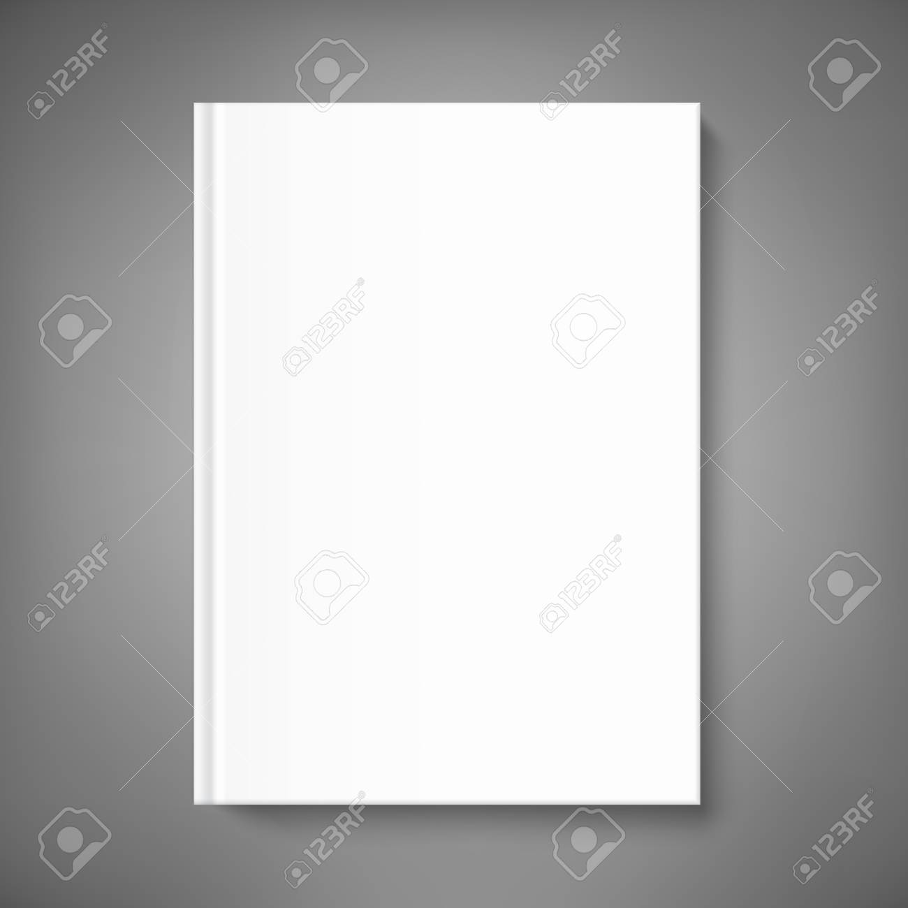 Mock up book cover on neutral grey background. Vector template for your design. - 95843006