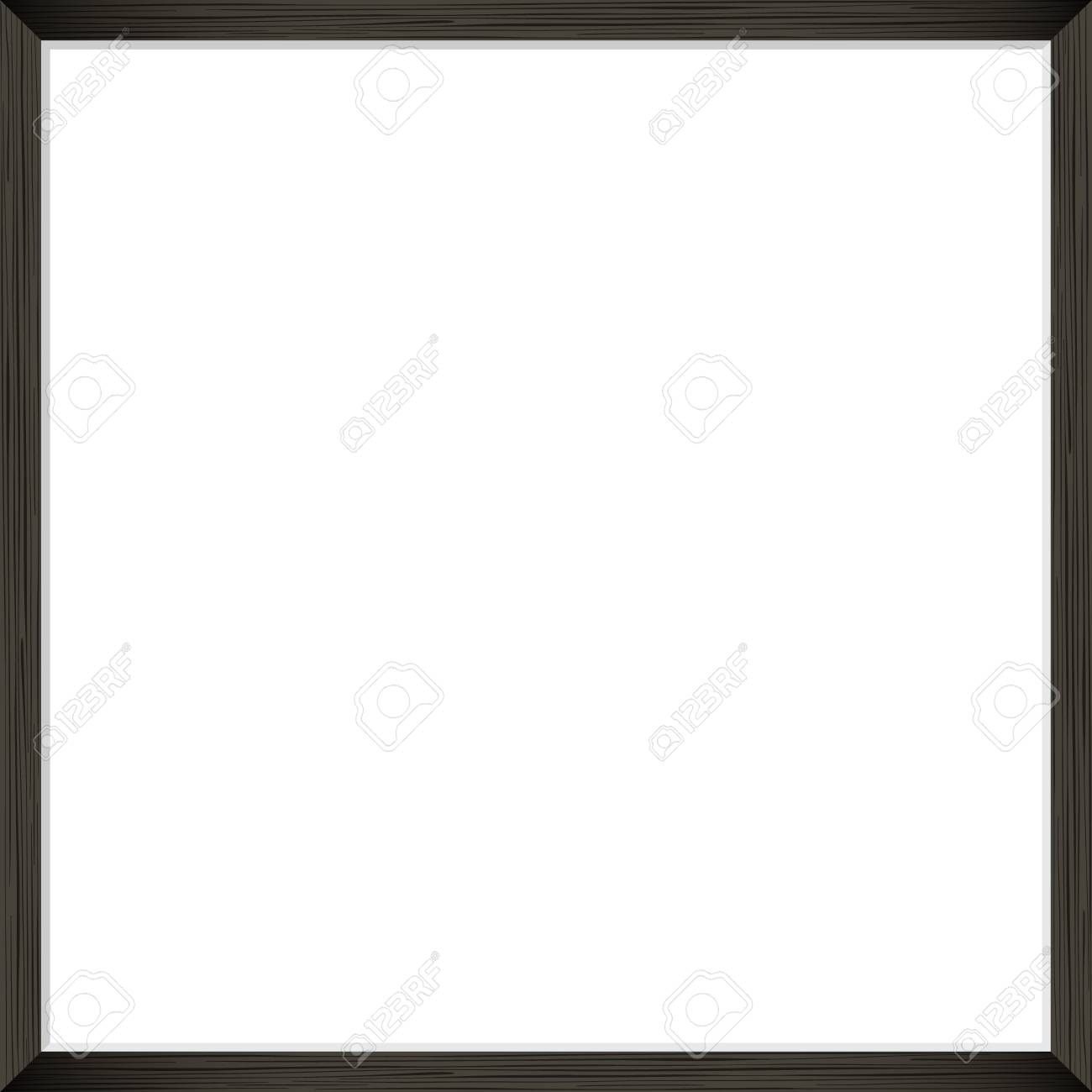 Square Blank picture frame template. Realistic black frame with shadow on white for photo or poster. - 101976326