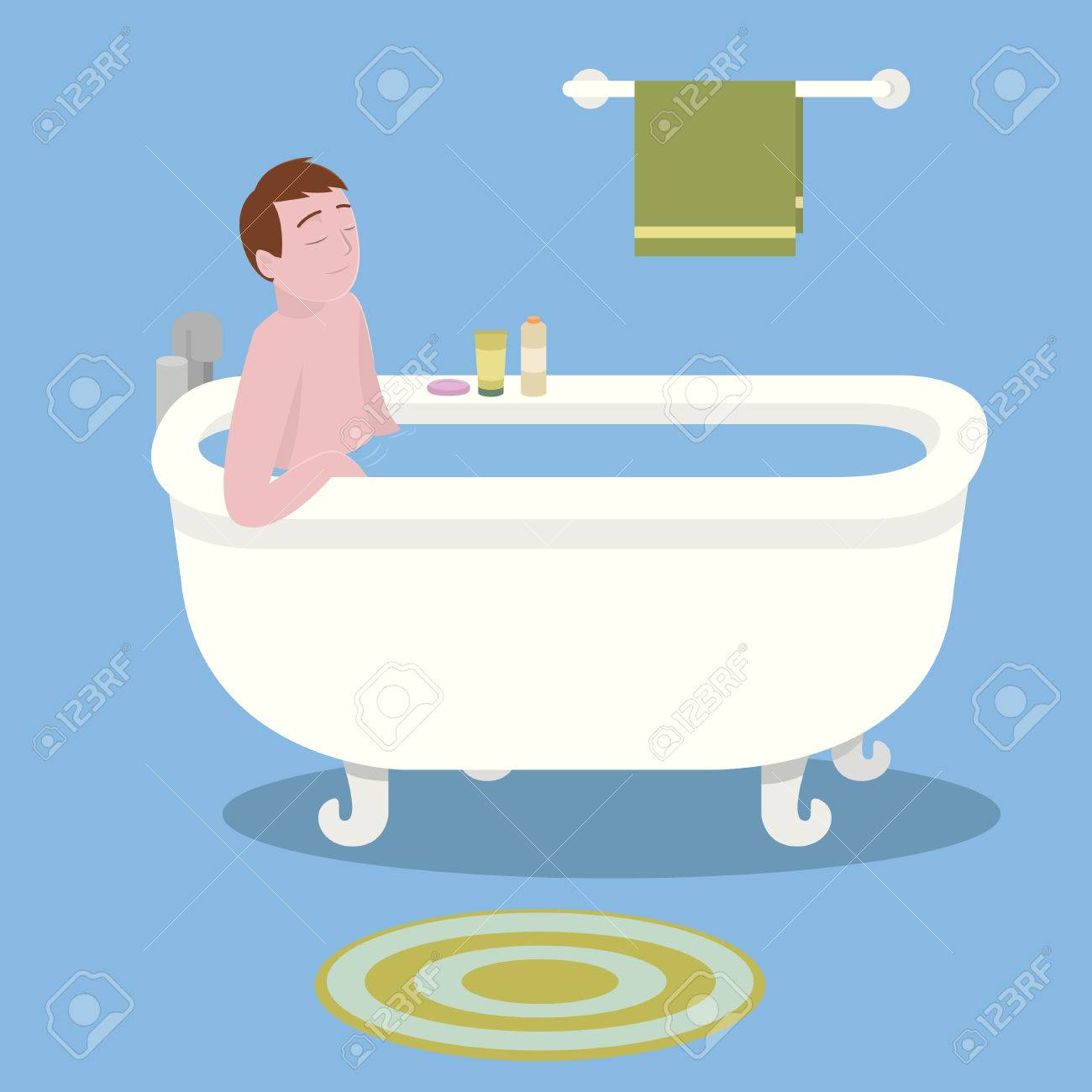 Man In Bathtub Royalty Free Cliparts, Vectors, And Stock ...